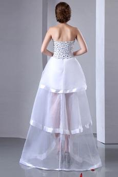 Modern Beach Wedding Dress With Rhinestones