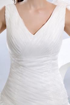 Beautiful Asymmetrical Waist Multi Layered Wedding Dress