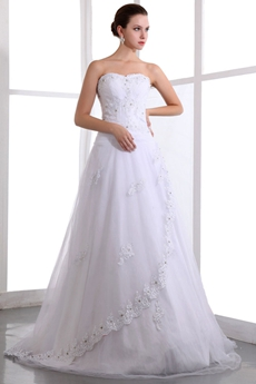 Elegant Princess Lace Wedding Dress Dropped Waist