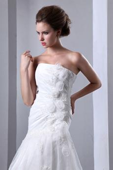 Affordable Asymmetrical Waist Princess Wedding Dress
