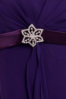 Charming Spaghetti Straps Violet Chiffon Bridesmaid Dress