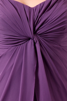 Charming Sweetheart Eggplant Chiffon Mother Of The Bride Gown