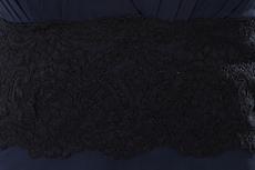 Elegance Top Halter Dark Navy Evening Dress