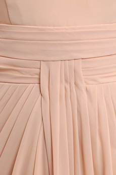 Delicate Spaghetti Straps Champagne Chiffon Engagement Evening Dress