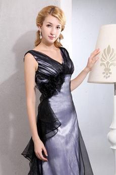 Modest Black & Silver Mother Dress