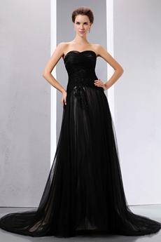 Vintage Black Gothic Wedding Dress