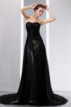 Vintage Black Gothic Wedding Dress