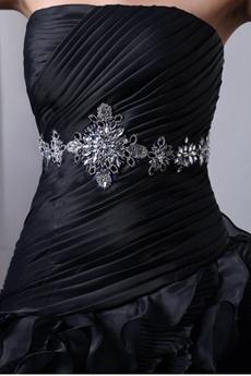 Organza Gothic Wedding Dress Multi Ruffled