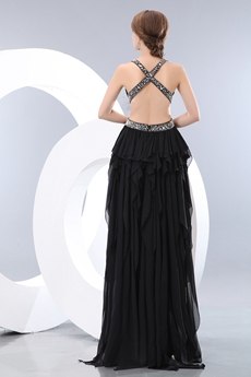 Sexy High Low Black Prom Dress