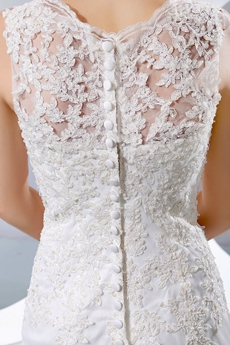 vintage Fit & Flare Lace Wedding Dress