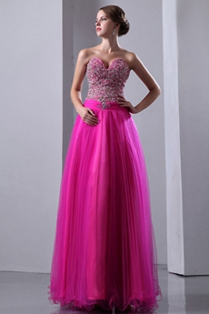 Extraordinary Fuchsia Sweet Sixteen Dress With Sparkled Bodice