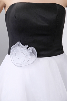 Chic Black & White Damas Dress