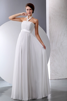 Noble Halter Maternity Chiffon Wedding Gown