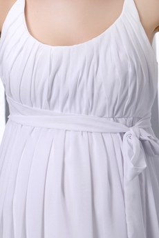 Romantic Scoop Neckline Empire Maternity Wedding Dress