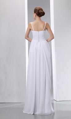 Column/Straight Summer Wedding Dress For Beach