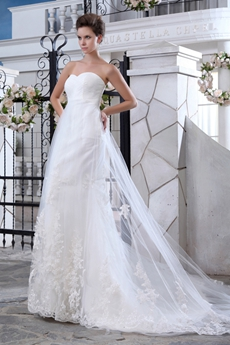 Delicate Illusion Mermaid Wedding Dress With Lacec Appliques