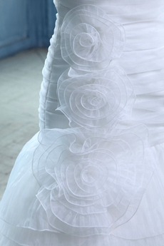 Breathtaking A-line Tulle Wedding Dress Dropped Waist