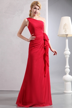 Straight/Column Red Mother Of The Bride Dress