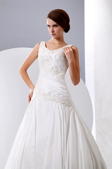 Asymmetrical Waist Plus Size Wedding Dress Corset Back