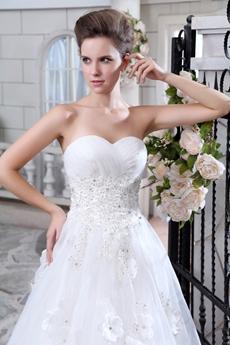 Sweet Jeweled Princess Organza Wedding Dress