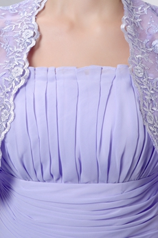 Lavender Mother Of The Bride Dress With Lace Jacket