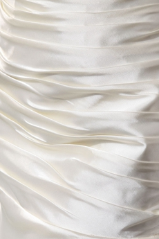 Elegance Scoop Neckline Ivory Satin Beach Wedding Dress