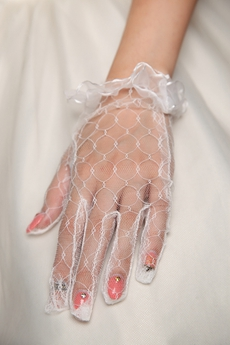 Bohemian Fishnet Glove For Wedding