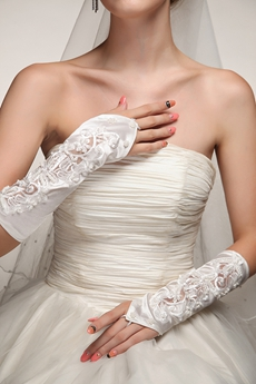 Romantic Fingerless Wedding Gloves