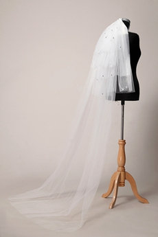 Rhinestone Chapel Wedding Veil
