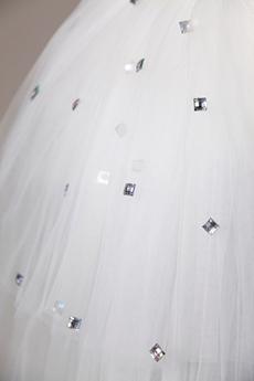 Rhinestone Chapel Wedding Veil