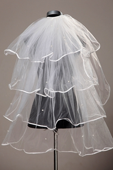 4 Layered Ribbon Wedding Veil