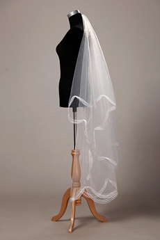 Perfect Angel-cut Simple Wedding Veil