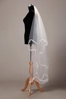 Perfect Angel-cut Simple Wedding Veil