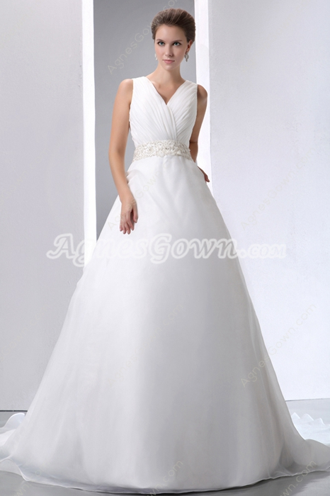 Simple Organza Wedding Dress