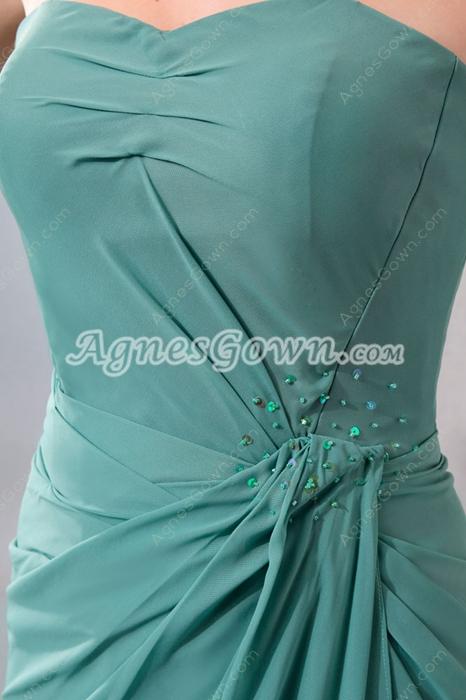 Sheath Full Length Jade Green Mother Dress With Jacket