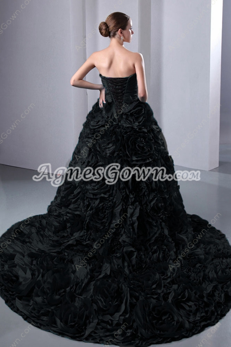 Gothic Black Wedding Dress 2016