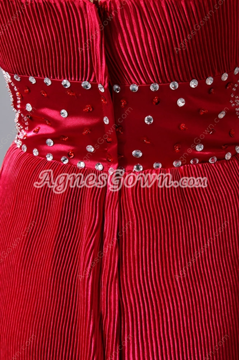 Attractive Short Length Red Wedding Party Dress With Bolero