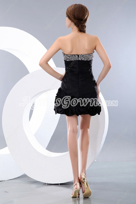 Fashionable Mini Length Black Cocktail Party Dress