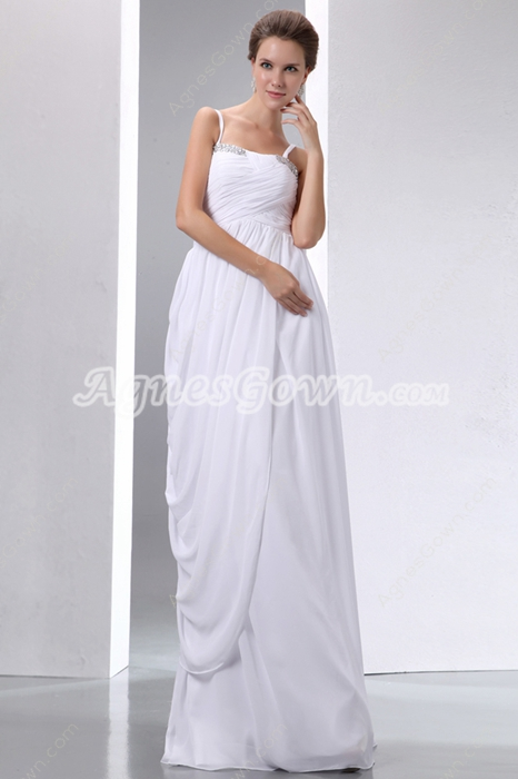 Column/Straight Summer Wedding Dress For Beach
