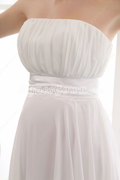 Strapless Empire Wedding Dress For Pregnancy Women