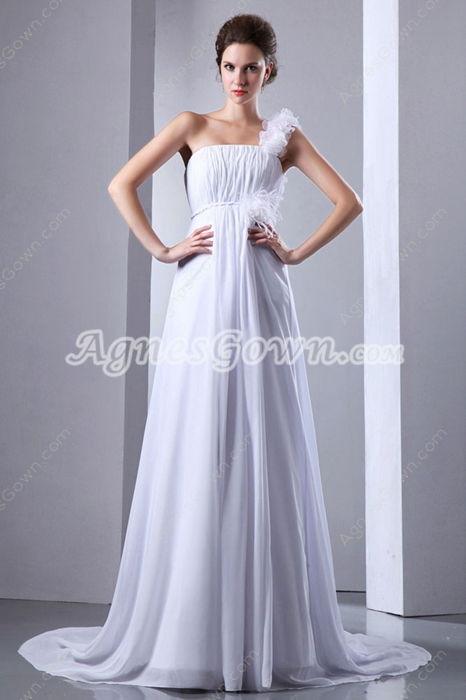 Charming One Straps Empire Maternity Wedding Dress
