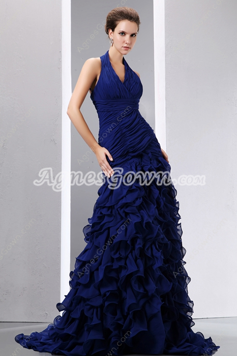 Breathtaking Trumpet/Mermaid Royal Blue Prom Pageant Dress