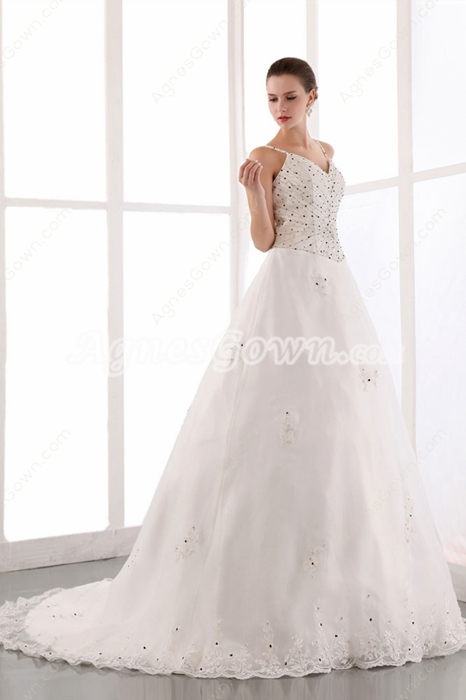 Luxurious Beaded Wedding Dress 2016