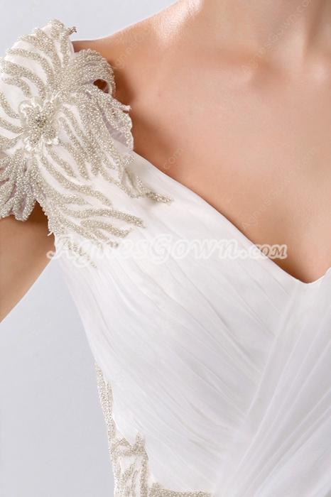 Extraordinary V-Neckline Ball Gown Wedding Dress Corset Back