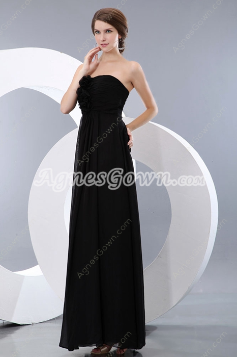 Straight/Column Black Long Graduation Dress For 8th Grade