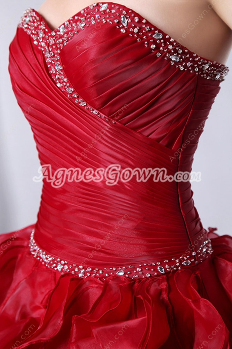 Gorgeous Burgundy Quinceanera Dress With Multi Layered