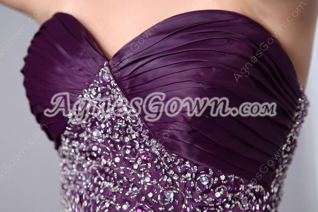 Retro Organza Multi Ruffled Grape Color Vestidos de Quinceanera Dress