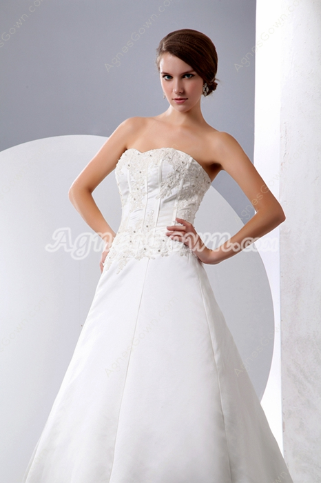 Modest Satin Wedding Dress For Plus Size Women