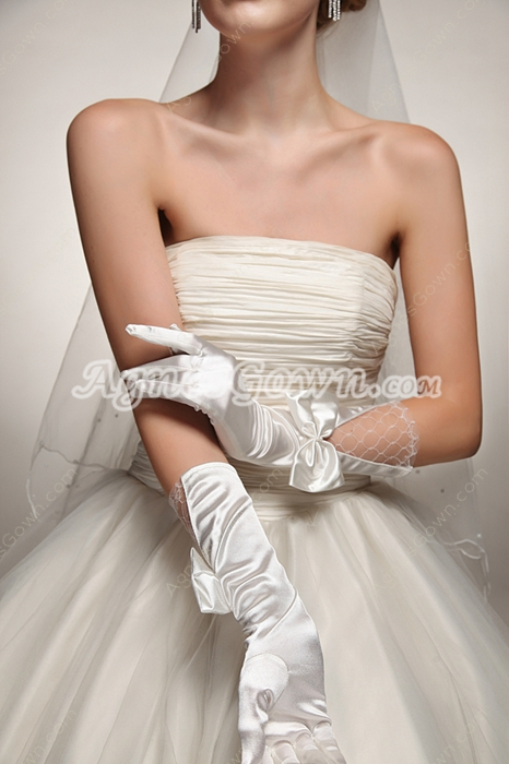 Lovely Wedding Gloves With Bow