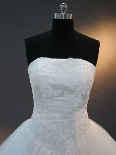 Romantic White Princess Ball Gown